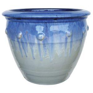 Hobnail Planter Aqua